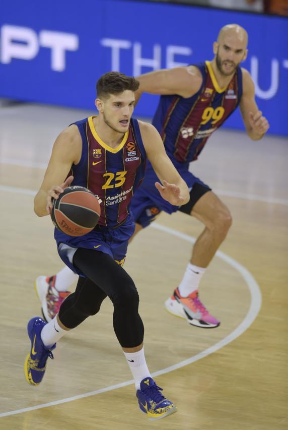 Sergi Martínez conduciendo la transición del Barça.