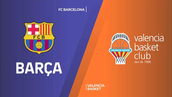 Resumen del FC Barcelona - Valencia Basket de Euroliga