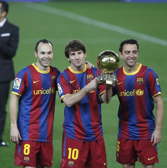 10 años del histórico podio de La Masia en el Balón de Oro 3